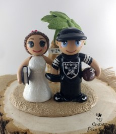 Bride and Groom Beach Football Reading Gaming