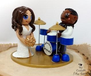 Bride and Groom Blue Drums