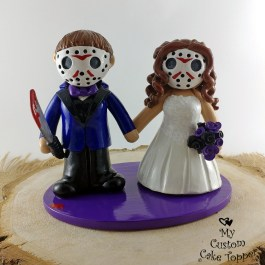 Bride and Bride Friday the 13th Jason Masks