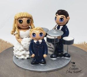 Bride, Groom, Kid Drumming