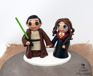 Bride and Groom Star Wars and Harry Potter
