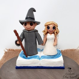 Bride and Groom Wizard and Angel Fairy