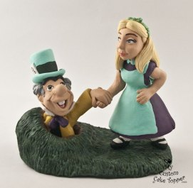Alice in Wonderland Down the Rabbit Hole Cake Topper