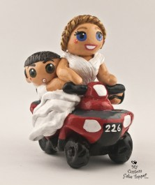 Bride and Groom ATV Adventure Cake Topper 1