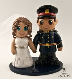 Bride and Groom Police Cake Topper