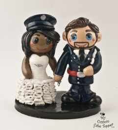 Bride and Groom Police Officers Cuffed to Each Other