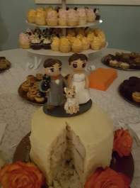 Bride and Bride Custom Wedding Cake Topper
