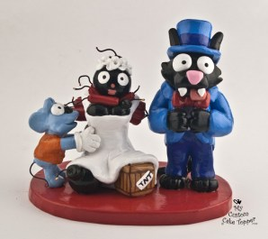 Itchy and Scratchy with Bomb Bride Cake Topper