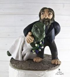 T-Rex Dinosaur and Sasquatch Cake Topper