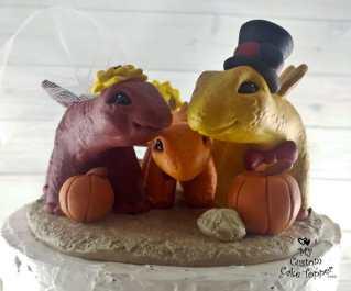 Dinosaurs Stegosaurus Family Cake Topper
