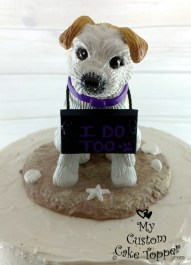 Destination Wedding Custom Dog Cake Topper
