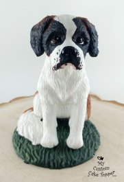 St Bernard Hemi Pet Portrait Sculpture