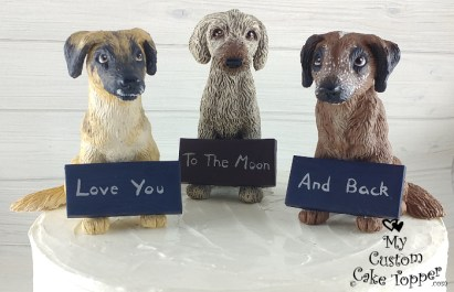 Dogs Love You to the Moon and Back Cake Topper