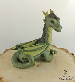 Green Dragon Cake Topper