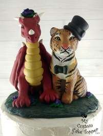 Dragon and Tiger Cake Topper