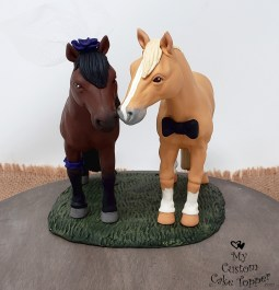 Horses Realistic Cake Topper