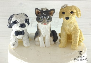 Pet Family Havanese Cockapoo, Goldendoodle and Cat Cake Topper
