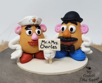 Mr and Mrs Potato Head Toy Story Cake Topper