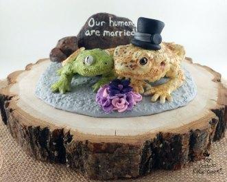 Leache Gecko and Bearded Dragon Cake Topper