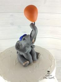 Baby Elephant Birthday Cake Topper