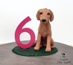 Dog Labradoodle Birthday Cake Topper