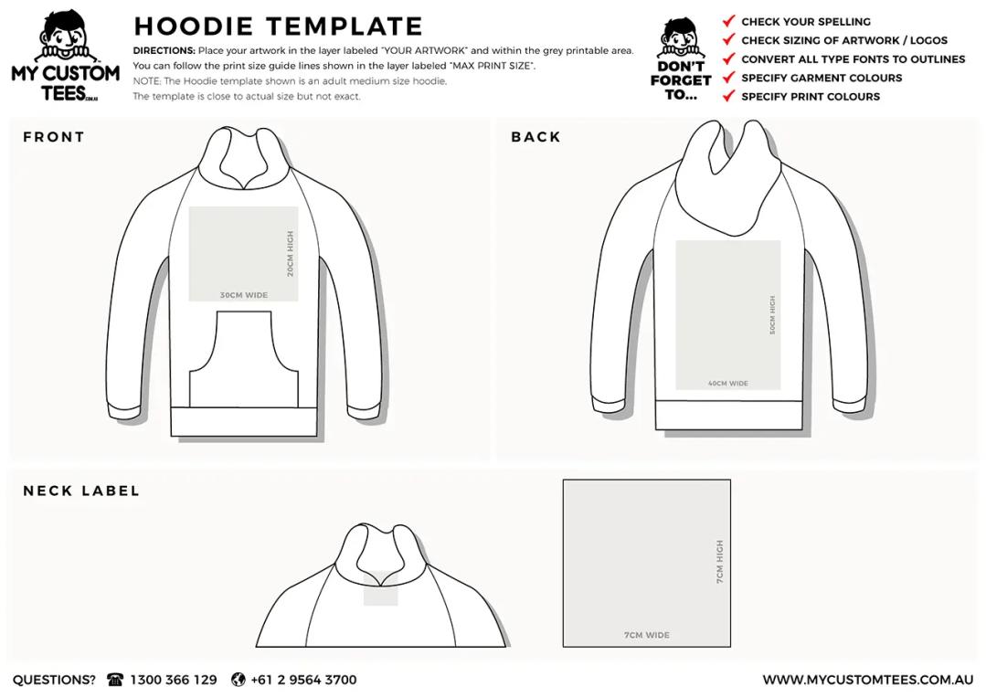my custom tees hoodie template