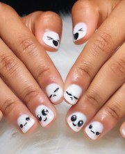 easy emoji nail art design
