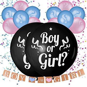 Balloons for gender reveal