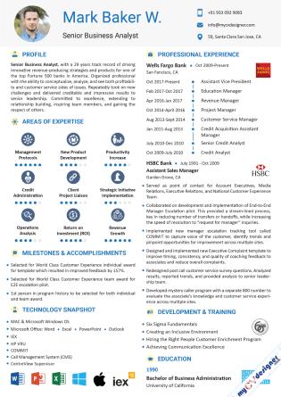 Visual CV (MCDV0032)