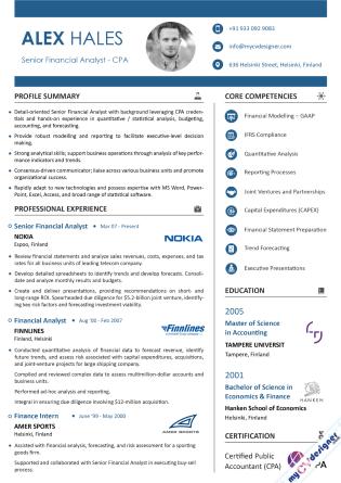 Visual CV (MCDV0026)
