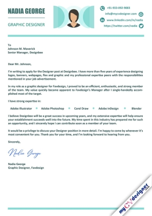Cover Letter - Designed (MCDCLD0102)