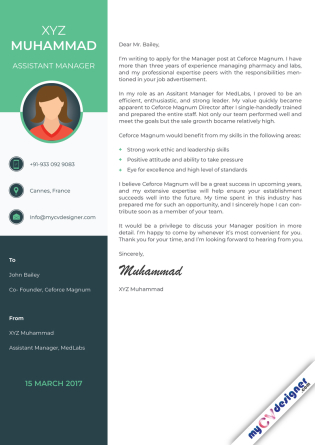 Cover Letter - Designed (MCDCLD0121)