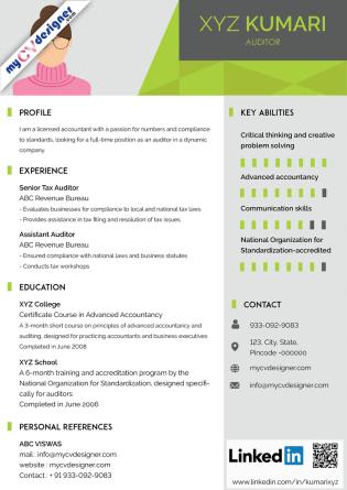 Visual CV (MCDV0001)
