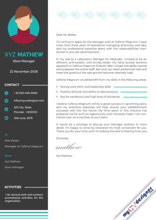 Cover Letter - Designed (MCDCLD0114)