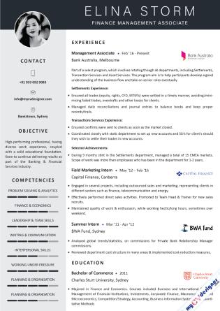 Visual CV (MCDV0023)