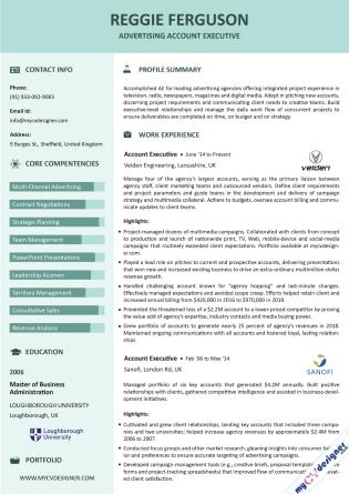 Visual CV (MCDV0028)
