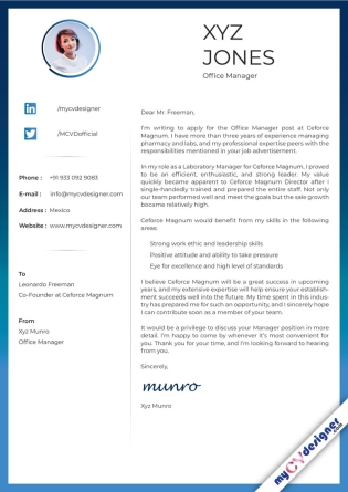 Cover Letter - Designed (MCDCLD0110)