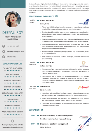 Visual CV (MCDV0035)
