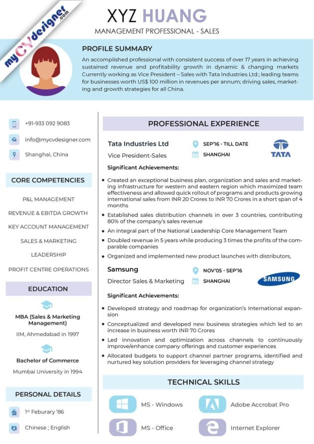 Visual CV (MCDV0024)