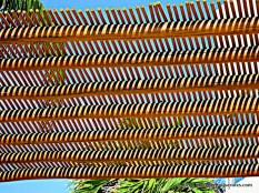 Notice the pattern created by the shade like a zigzag