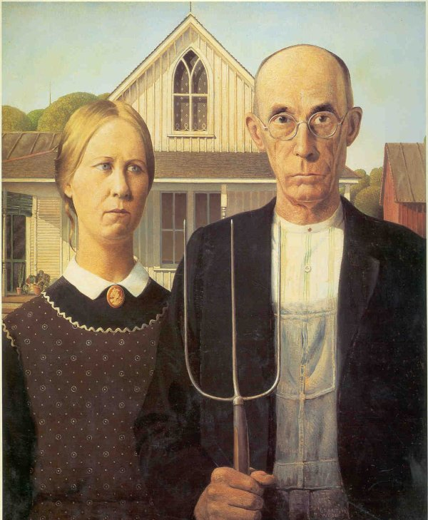 American Gothic Grant Wood Daily Art Display
