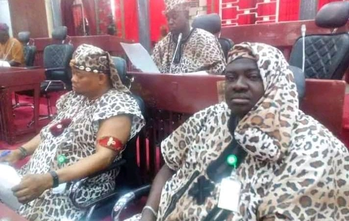 [PHOTOS] Oyo Assembly Members Appear in Amotekun Uniform To Pass State Security Bill