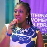Mrs Georgina A. Fiagbenu addressing a group of women enttreprenurs as part of activities to mark World Womens Day 660x330 1