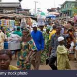nigeria lagos people at marketplace AF4N3K