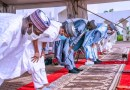 PHOTOS: Buhari Celebrates Eid-el Kabir With Family At The Villa