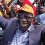 Obaseki arriving at the National Secretariat of the Peoples Democratic Party