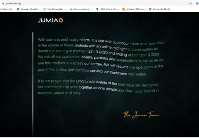 #EndSARS: Jumia Shuts Down Website