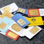 sim cards pile