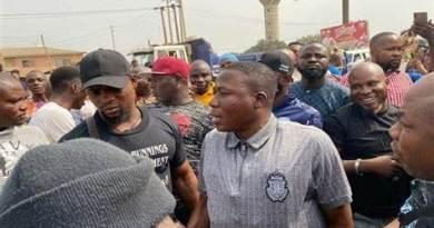 Igboho with supporters in Abeokuta on Monday