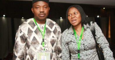Odumakin with wife